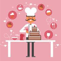 Fond de concept de confiserie et de pâtisserie vecteur