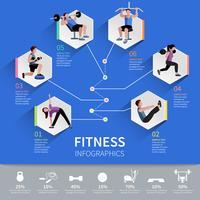Conception de présentation infographique personnes fitness vecteur