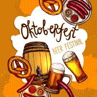 Affiche du festival Oktoberfest vecteur