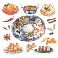 Composition des ingrédients des restaurants indiens
