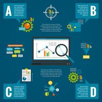 Ensemble infographique d'analyse de données vecteur