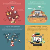 Concept de design défini pour la logistique vecteur