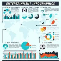 Jeu d'infographie de divertissement vecteur