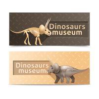 Bannières horizontales du musée des dinosaures vecteur