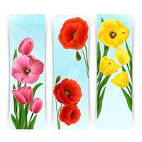 Bannières Floral Vertical vecteur
