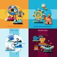 ensemble de concept de design d'amusement