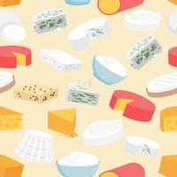 Fromage Seamless Pattern vecteur