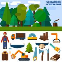 Icônes de l'industrie du bois