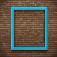 Cadre bleu sur mur vecteur