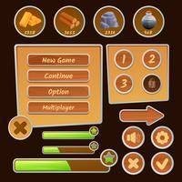 Icônes de ressources pour les jeux vecteur