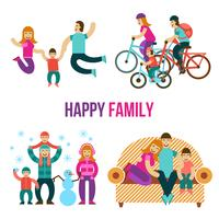 ensemble de plaisir en famille