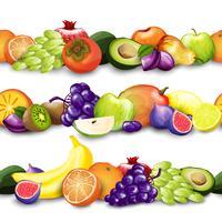 Illustration de bordures de fruits vecteur