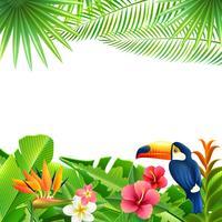 Fond de paysage tropical vecteur