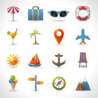 Icônes polygonales de voyage vecteur