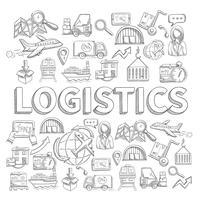 Concept d'esquisse logistique vecteur