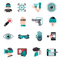 Icônes de réalité virtuelle augmentée