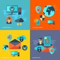 Concept de sécurité réseau vecteur