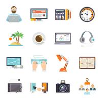 icône freelance plate