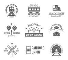 Jeu d'étiquettes de chemin de fer