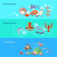 Jeu de bannière de fruits de mer