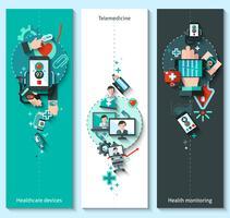 Bannières de médecine numérique verticales