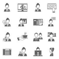 Icônes d'assistant personnel vecteur