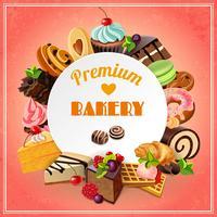 Affiche de promotion de la boulangerie vecteur