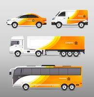Conception de publicité de transport vecteur