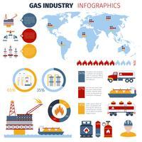 Set d'infographie gaz vecteur