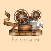 Illustration de film rétro vecteur