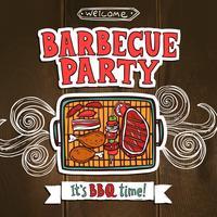 Affiche de fête de barbecue