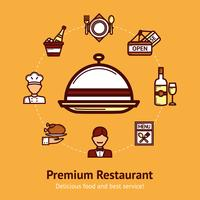 Illustration de concept de restaurant vecteur