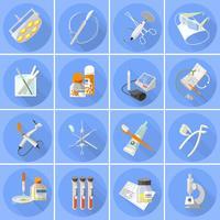 Icônes de médecine mis à plat