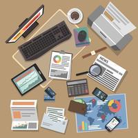 Concept d'opérations bancaires vecteur
