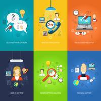 Ensemble de mini affiches de support informatique multicolore