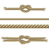 Ensemble décoratif de cordes vecteur