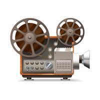 Projecteur de film réaliste vecteur
