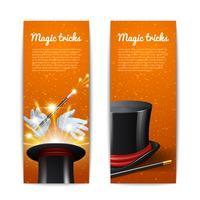Ensemble de bannières magiques vecteur