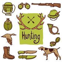 Jeu d'icônes de chasse