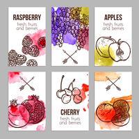 Cartes avec des fruits