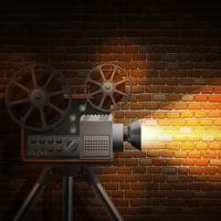 Fond de film rétro vecteur