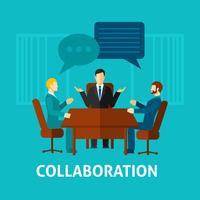 Icône de collaboration plate