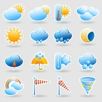 Ensemble d'icônes symboles météo vecteur