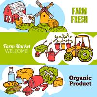 Agriculture bannière ensemble