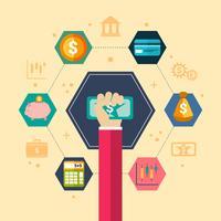 Illustration du concept financier vecteur