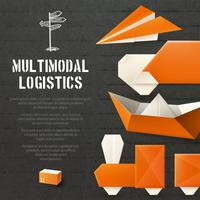 Contexte logistique en origami