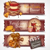 Bannières de cinéma rétro