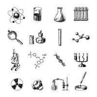 Jeu d'icônes de chimie