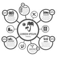 Éléments de conception infographie vacances voyage vecteur