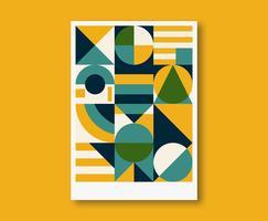 Conception d'affiche géométrique vecteur